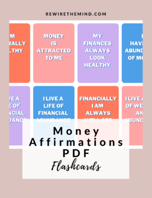 money affirmations pdf flashcards