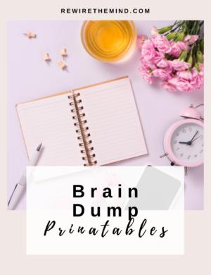 brain dump worksheet