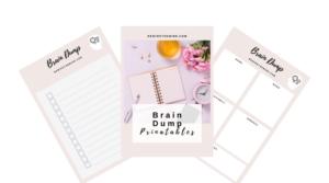 brain dump worksheet printable