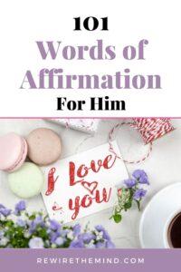 words of affirmation for him