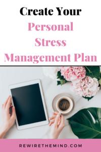 personal stress management plan